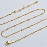 20 Inch Gold Stainless Steel Station Ball Chain for Floating Locket